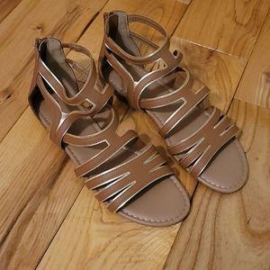 SO Brand Women's Gladiator Sandals, Brown, 9